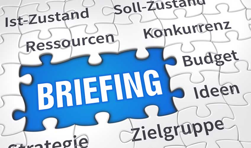 agentur briefing